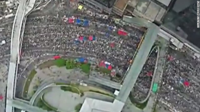 Birds-eye views of Hong Kong protests