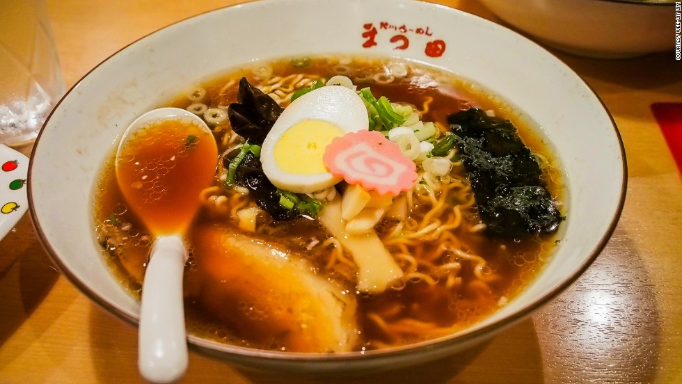 Not all ramen on Hokkaido is miso. Asahikawa's most distinct ramen style is Shoyu, a hearty soup made from pork and chicken bones, then mixed with a seafood broth.