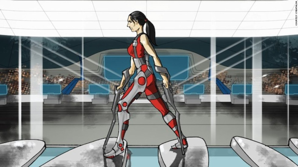 Graphic promoting the 2016 Cybathlon in Switzerland that will see power-assisted devices used in new sporting competitions.