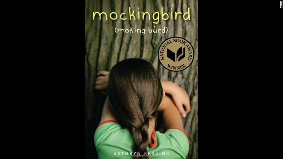 "Kathryn Erskine's National Book Award winner ""Mockingbird"" tells the story of fifth-grader Caitlin, who has Asperger's syndrome and lives in a black and white world. But her life is shattered when her caring brother is killed in a school shooting and she has to figure out the world without him."