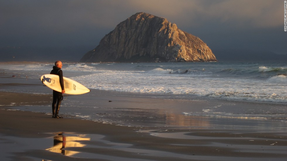 It doesn't get the hype of some other coastal towns, but Morro Bay -- midway between San Francisco and Los Angeles -- is worth a visit on its own. Its landscape is dominated by Morro Rock, a 581-foot-high volcanic plug that helps shield the harbor from the sea. If you rent kayaks on the waterfront and paddle around the harbor, you'll encounter pelicans, sea lions and sea otters.