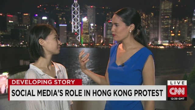 Hong Kong protest driven by technology