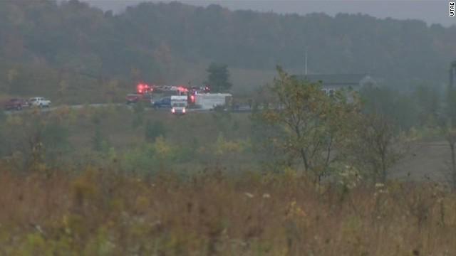 Fire at Flight 93 National Memorial
