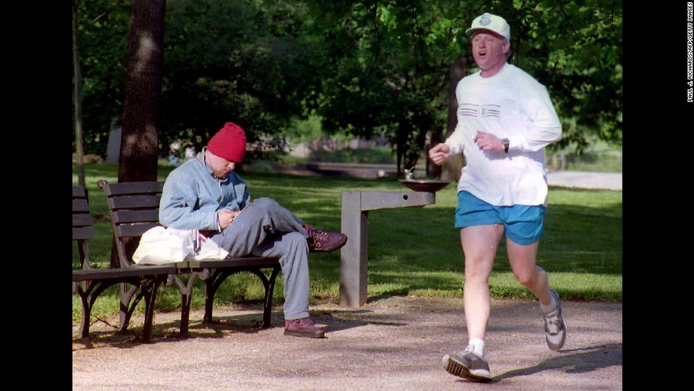 "Bill Clinton, the 42nd president, often jogged for exercise. While he was in office, a <a href=""http://www.whitehousemuseum.org/grounds/south-lawn.htm"" target=""_blank"">running path</a> was put in along the South Lawn driveway at the White House."