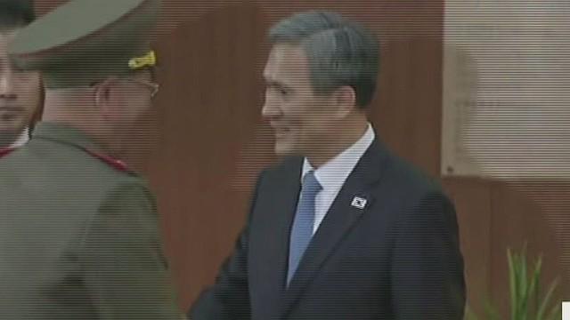 N. Korean officials make surprise visit