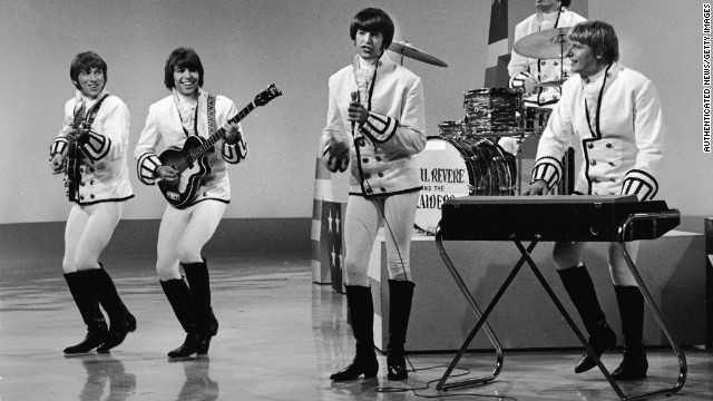 Paul Revere, on keyboards, performs with Paul Revere & the Raiders in the 1960's.