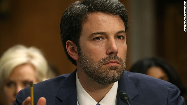 Actor Ben Affleck, founder of the Eastern Congo Initiative, listens to testimony during a Senate Foreign Relations Committee hearing on Capitol Hill, February 26, 2014 in Washington, DC.