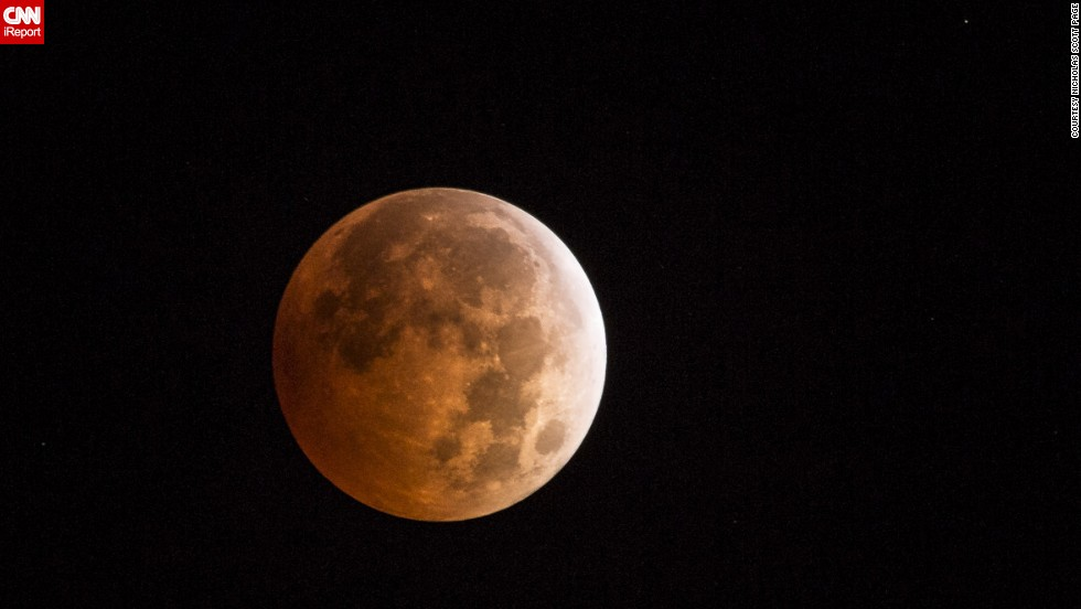 "It was the first time <a href=""http://ireport.cnn.com/docs/DOC-1177339"">Nicholas Scott Page</a> from Dayton, Washington, saw the blood moon.""I stayed up in April to try and catch the last eclipse but cloud cover spoiled my plans to photograph it,"" he said."