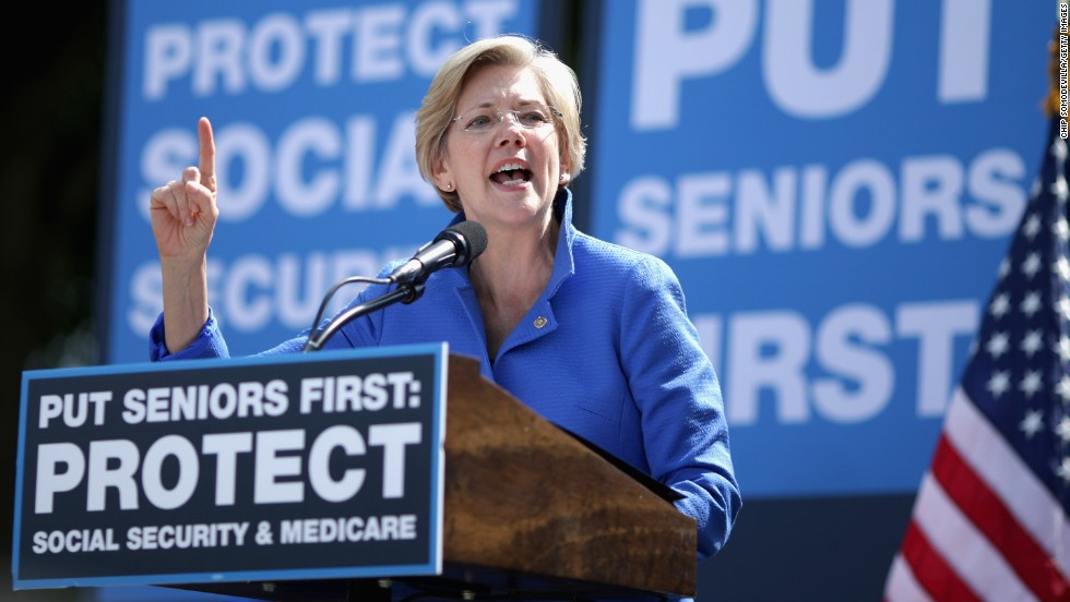 Sen. Elizabeth Warren of Massachusetts has repeatedly said she's not running for president, but the Democrat -- a favorite among progressives -- has been urged to run by populists in her party. A first-term senator elected in 2012, Warren is known for her attempts to take on Wall Street -- both as a senator and as the creator of the Consumer Financial Protection Bureau during President Obama's first term.