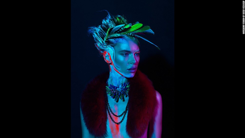 Kate Rohde's jelly crystal neckpieces are featured in Techno Tribe, a fashion editorial styled by Renya Xydis.