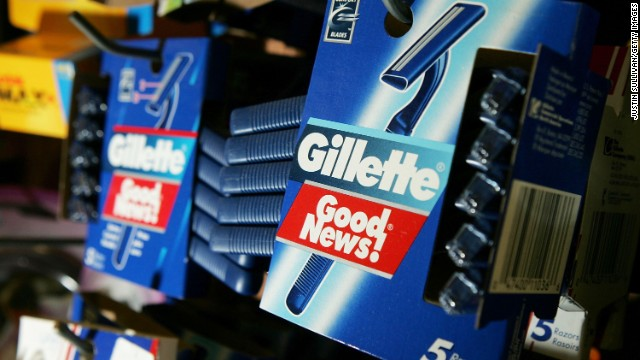 SAN FRANCISCO - JANUARY 28:  Gillette Good News razors, made by the Gillette Co., are seen on display at the Arguello Supermarket January 28, 2005 in San Francisco. Procter & Gamble Co. announced that it is buying shaver and battery maker Gillette Co. for $57 billion in a deal that would create the world?s largest consumer-products company.  (Photo by Justin Sullivan/Getty Images)