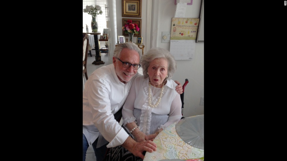 Blitzer visits his mother, Cesia, in Florida in 2014.