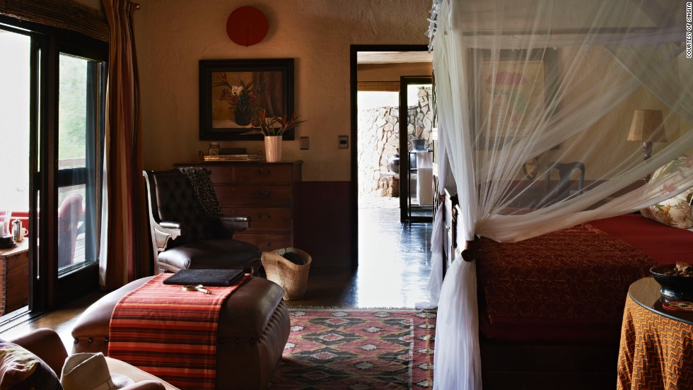 Singita Sabi Sand game reserve in South Africa came in at No. 7, featuring interiors designed by emerging African designers.