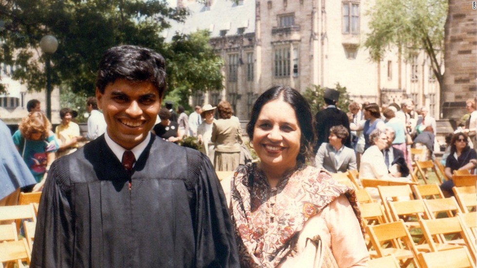 Zakaria and his mother at his graduation from Yale University.
