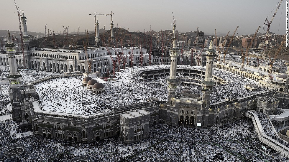 The annual Hajj pilgramage draws more than 2 million Muslim pilgrims from around the world.