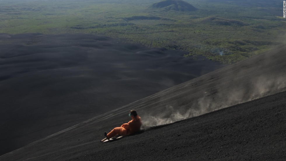 """To our knowledge, volcano boarding is only possible on Cerro Negro,"" says Timothy Brauning of Bigfoot tour company. ""In parts of South America, and other parts of the world, there is something called 'sand boarding,' but this is nothing like volcano boarding."""