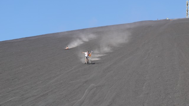 Several local companies offer volcano boarding excursions, which cost about $30.