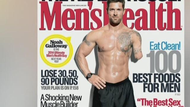 Combat veteran on cover of health magazine Newday good stuff _00002106.jpg