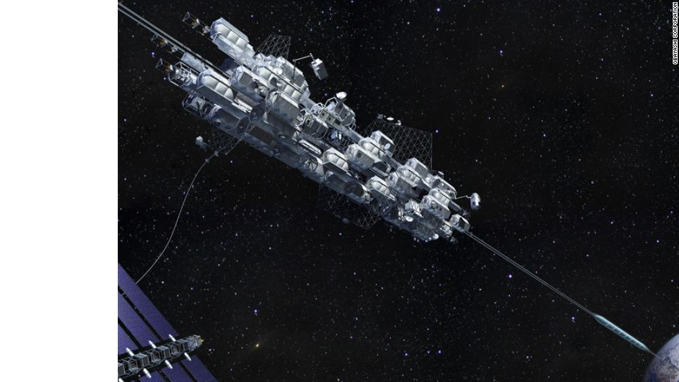 A Japanese construction company, Obayashi Corporation, has been investigating the concept for a space elevator. Their researchers believe that advances in carbon nanotechnology could make a space elevator possible as soon as 2030.