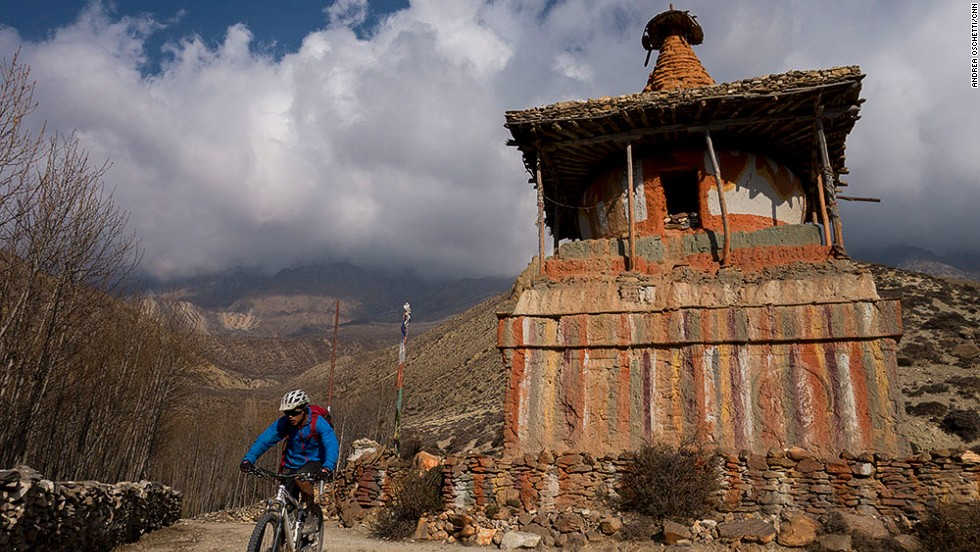 A mountain bike and backpack are all that are needed to explore trails in Mustang's majestic valleys, which are dotted with villages and monasteries.
