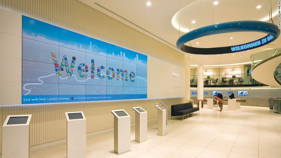 'Being: London', an interactive wall within the Piccadilly branch, provides local information and showcases what people in the capital are doing. Rather than solely driving sales, the bank also hopes to operate as a wider resource for customers and visitors.