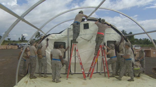 U.S. troops join Ebola fight