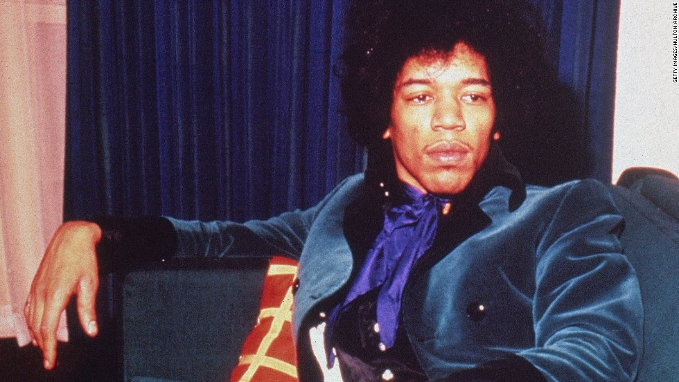 He stood 5-foot-11 and was rail-thin with a size 28 waist. But Hendrix seemed born to play guitar. He had freakishly large hands that seemed as if they belonged to someone much taller. Some theorize that his hands helped him summon some of the unearthly sounds he coaxed out of his guitar.