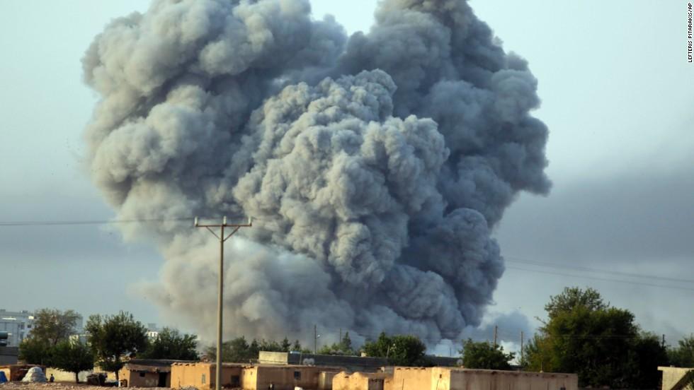 Explosions in Kobani get more intense