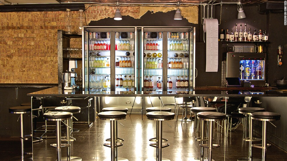 London's White Lyan is a bar for customers, not bartenders. Housed in two double-door refrigerators and three freezers are 500 bottles of pre-prepared cocktails.