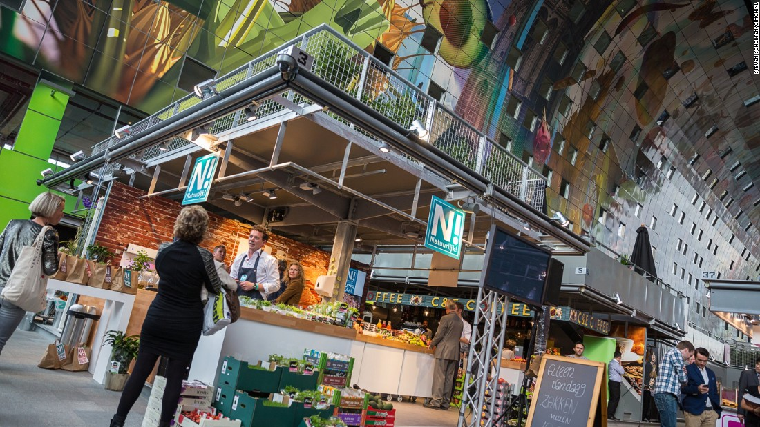 "The super-modern <a href=""http://edition.cnn.com/2014/10/13/travel/rotterdam-markthal-food-hall/"">Rotterdam Markthal </a>-- a mammoth fruit and vegetable market -- opened last last year. Its promoters describe it as a ""Valhalla of food."""