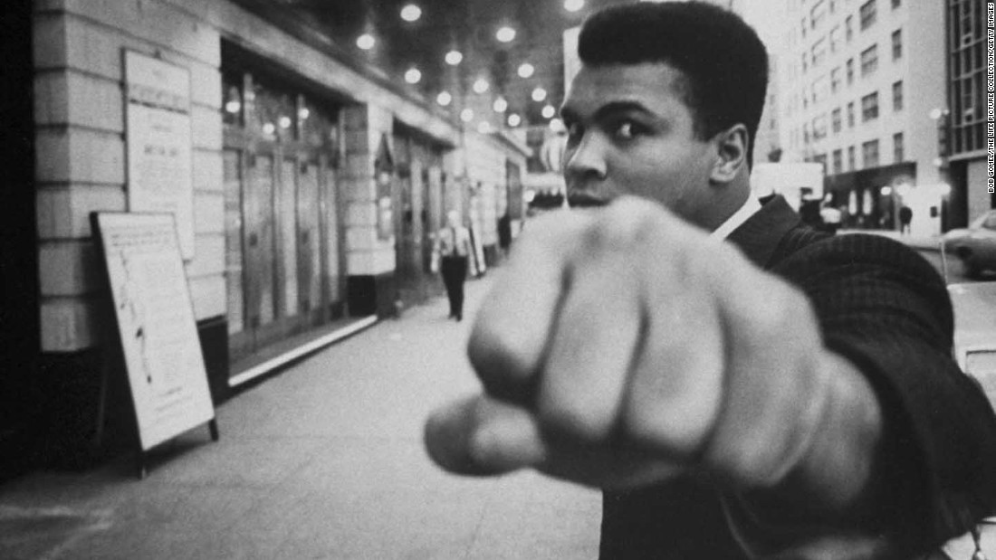 "Since winning a gold medal in the 1960 Olympics, Muhammad Ali has never been far from the public eye. Take a look at the life and career of Ali, the three-time heavyweight boxing champion who called himself ""The Greatest."""