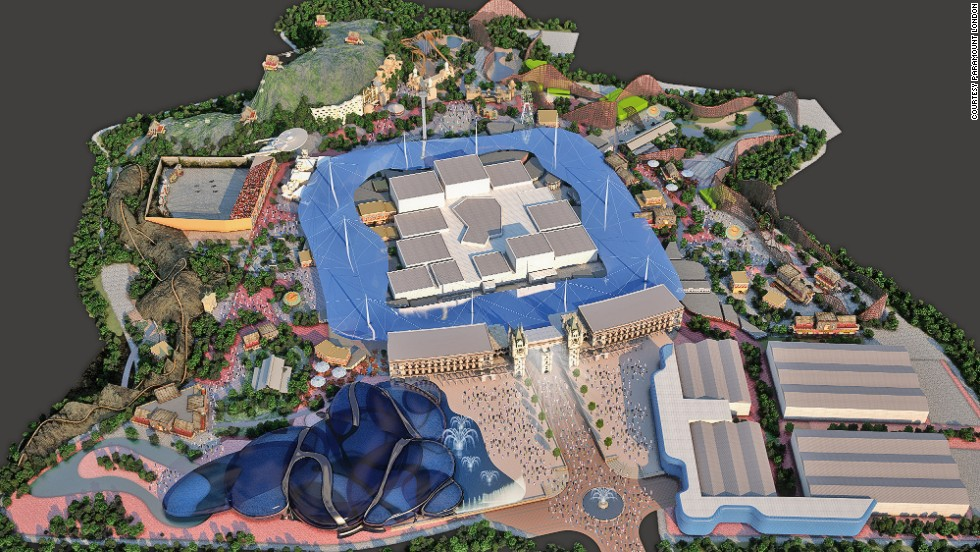 The Paramount London resort will have a main entertainment street, water park and sporting facilities. Its slated to open in 2020.