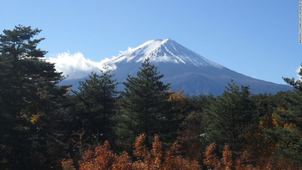 "<a href=""http://www.japan-guide.com/e/e2172.html"" target=""_blank"">Mount Fuji</a>, an active volcano, is also <a href=""http://ireport.cnn.com/docs/DOC-1062456"">Japan's</a> highest mountain. It stands at more than 12,000 feet."