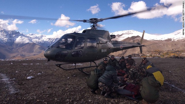 At least 17 people from around the world died after being trapped in heavy snowfall while trekking at high altitude in the Himalayan Mountains.