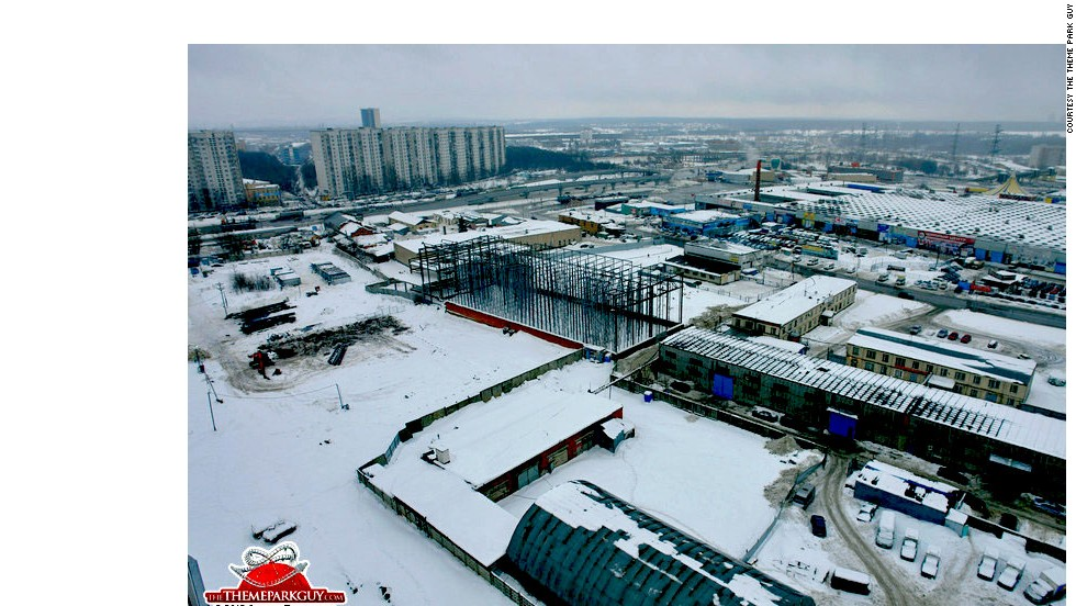 Still a bare building site, Universal Moscow, this city's first major theme park, will be indoors to fend off the Russian winter.