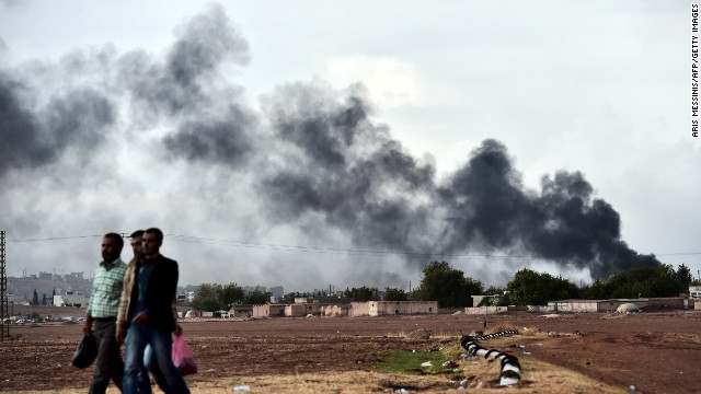 ISIS pushed back in Kobani