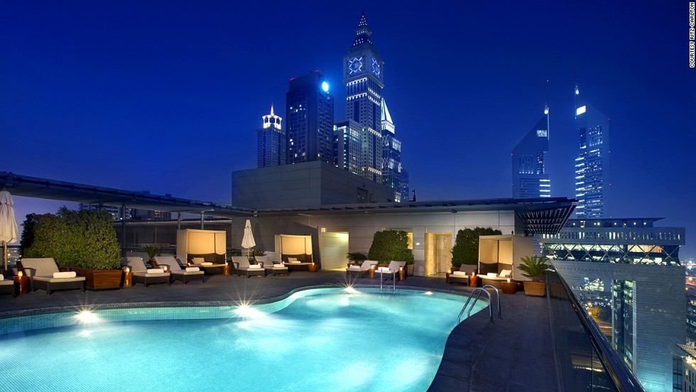 The Ritz-Carlton, Dubai International Financial Center. From the rooftop pool you can see Dubai's architectural masterpieces. Indoors, the hotel houses a collection of 130 art pieces.