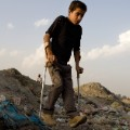 Boy with polio in Afghanistan