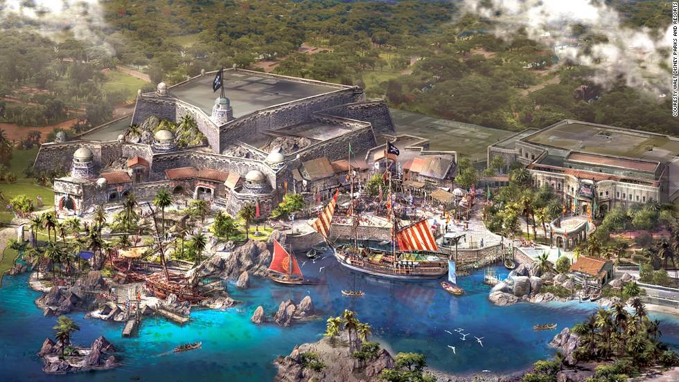 Caribbean-like greenery and pirates are coming to Shanghai Disney at Treasure Cove.