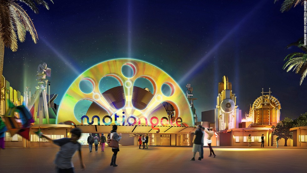 Motiongate Dubai will feature Dreamworks Animation characters and themed dining.