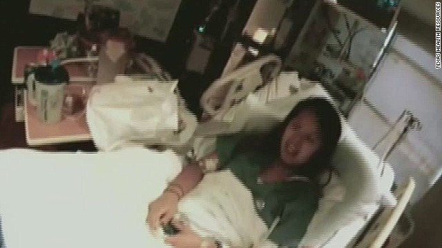 Video shows Nina Pham in hospital room