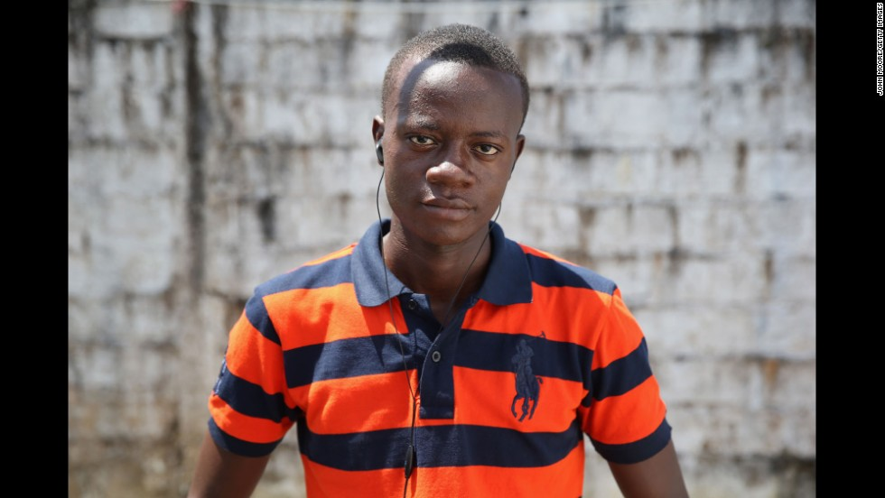 Eric Forkpa, a 23-year-old college student majoring in civil engineering, said he thinks he caught Ebola while caring for his sick uncle, who died of the disease. He spent 18 days at the MSF center recovering from the virus.