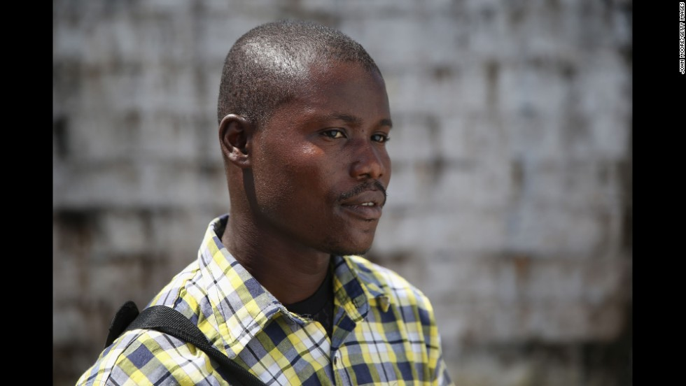 Survivor Moses Lansanah, 30, said he lost his pregnant fiance, Amifete, who was 9 months pregnant with his child, when she died of Ebola.