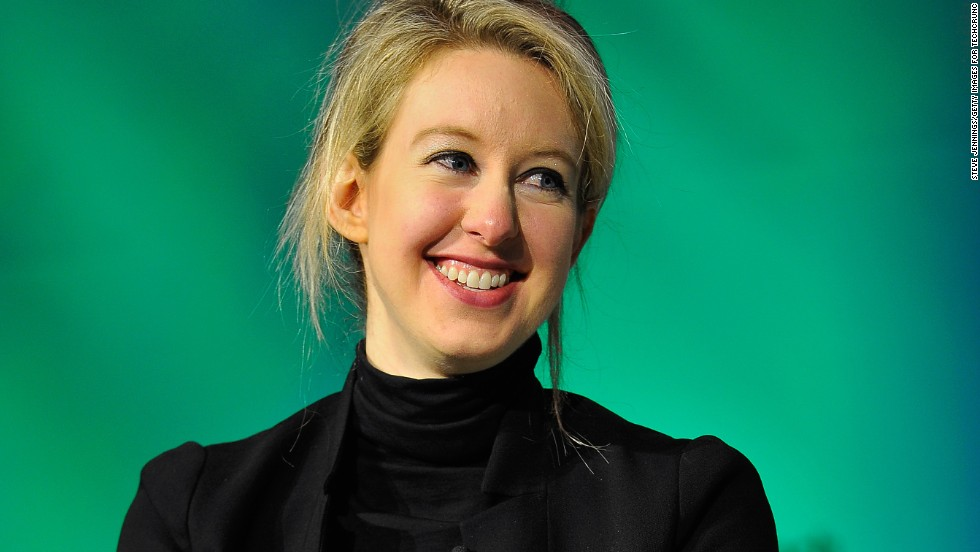 "American Elizabeth Holmes, 32, is the world's youngest self-made female billionaire. She founded revolutionary blood diagnostics company, <a href=""https://www.theranos.com/"" target=""_blank"">Theranos</a>, which uses a <a href=""http://edition.cnn.com/2015/11/12/health/theranos-what-we-know-science/"">prick of blood</a> to get the same results as you would from an entire vial."
