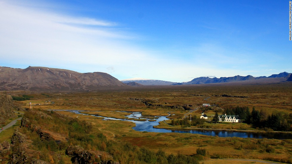"Located in Iceland, <a href=""http://www.thingvellir.is/english.aspx"" target=""_blank"">Thingvellir National Park </a>receives thousands of visitors per year. The park offers many activities including camping, horseback riding and even <a href=""http://ireport.cnn.com/docs/DOC-1039249"">diving</a> in its famous waters. Thingvellir's waters are known for its great visibility between tectonic plates."