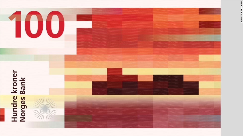 One of the winning designs for what will be the newest Norwegian 100 Krone ($15) note. Norges Bank, the Norwegian central bank, recently held a competition to design its latest banknotes.