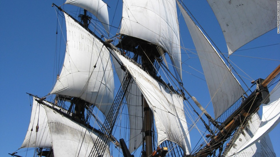 A replica of the HMS Endeavour, which has existed for 20 years after a lengthy build process.