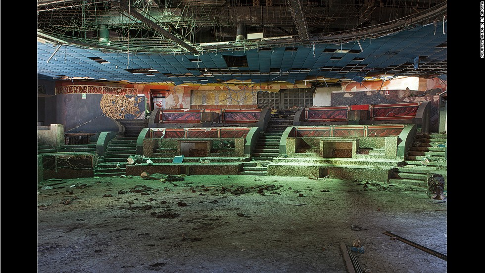 """Everything inside the disco is still and silent. Only colors remain,"" says La Grotta. He tries to imagine what it must have been like when the club was filled with people. ""It's as if everything can be alive again for a short moment, just for me."""