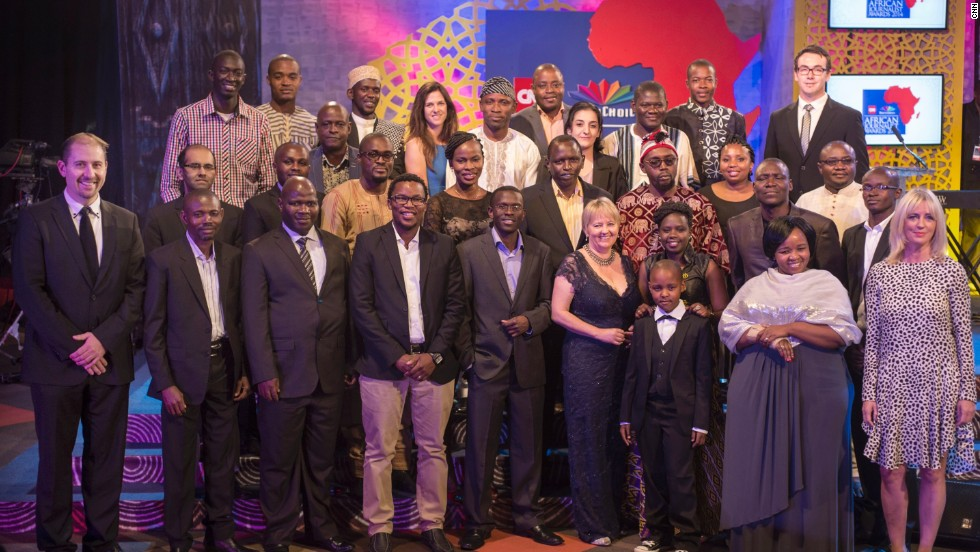 Finalists and judges gather ahead of the ceremony in Dar es Salaam, Tanzania, on October 18.
