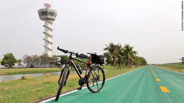 Suvarnabhumi's 15-mile bike track loops around the airport.